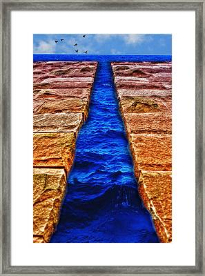 The Divide Framed Print