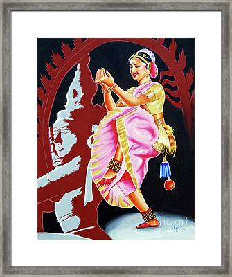 The Divine Dance Of Bharatanatyam Framed Print by Ragunath Venkatraman