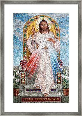 The Divine Mercy  Framed Print by Janet Flom