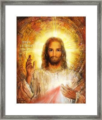 The Divine Mercy, Jesus I Trust In You - 3 Framed Print