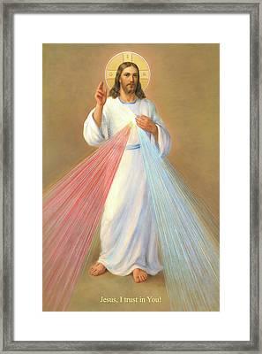 The Divine Mercy Of Jesus Framed Print