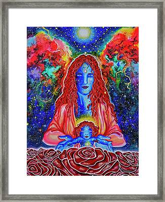 The Divine Mother And Child Framed Print by Marika Segal
