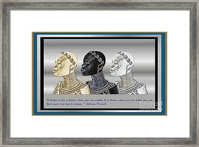 The Divine Sisters Framed Print