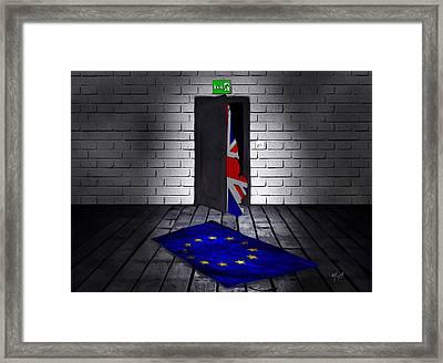 The Divorce Framed Print by Mark Taylor