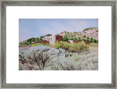 The Dixon House Framed Print