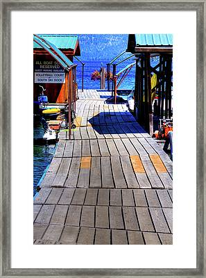 The Dock At Hill's Resort Framed Print by David Patterson