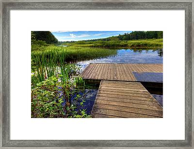 The Dock At Mountainman Framed Print by David Patterson