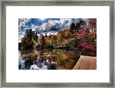 The Dock At The Boathouse Framed Print by David Patterson