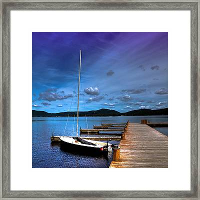 The Dock At The Woods Inn Framed Print by David Patterson