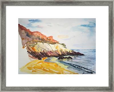 The Dock Beach Framed Print by Lidija Ivanek - SiLa