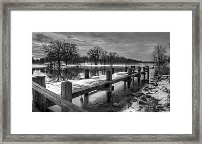 The Dock Framed Print by Everet Regal