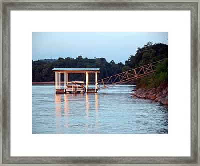 The Dock Framed Print by Michael Morrison
