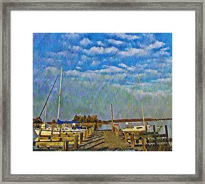 The Dock Of The Bay Framed Print by Bill Cannon
