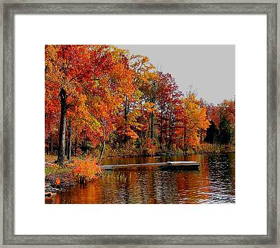 Framed Print featuring the photograph The Dock by Rick Friedle