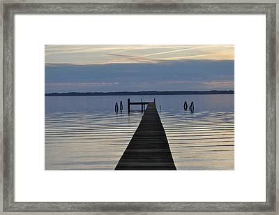 The Dock Framed Print by Tiffney Heaning