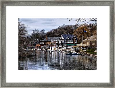 The Docks At Boathouse Row - Philadelphia Framed Print