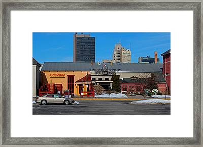 Framed Print featuring the photograph The Docks by Michiale Schneider