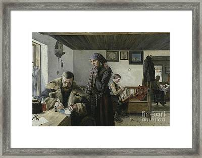 The Doctor Calls Framed Print by Charles John William Louis Aspelin