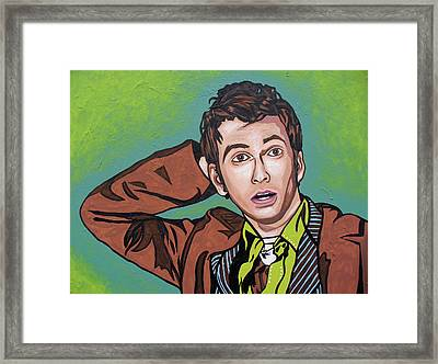 The Doctor David Framed Print by Sarah Crumpler