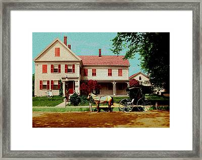 The Doctor Heads Out On A House Call Framed Print