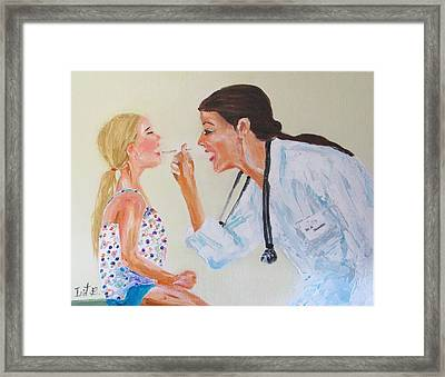 The Doctor Framed Print by Irit Bourla