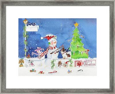 The Dog Groomer Framed Print by Suzy Pal Powell