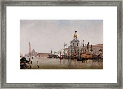 The Dogana Di Mare With San Giorgio Maggiore Beyond Framed Print