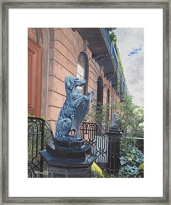 The Dogs On West Tenth Street, New York, Ny  Framed Print