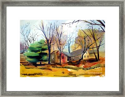 Framed Print featuring the painting The Dogwood Tree Ready To Hang by Charlie Spear