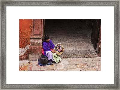 The Doll Peddler Framed Print