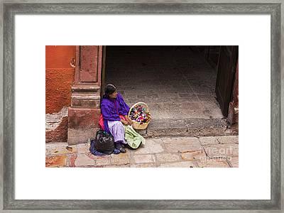 The Doll Peddler Framed Print by Juli Scalzi