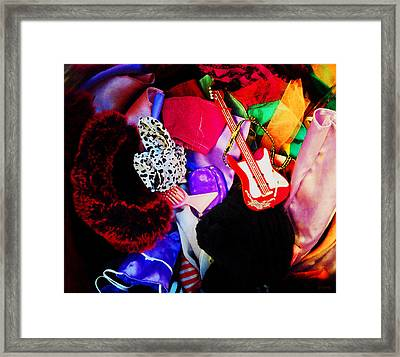 The Dolls Are Hoarders Framed Print by Shawna Rowe