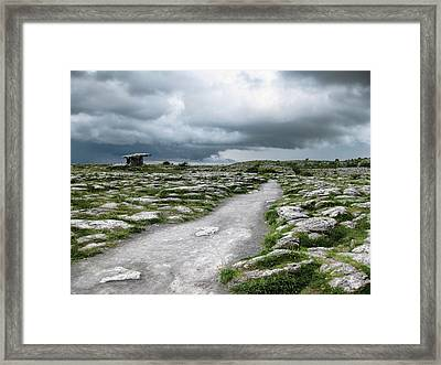 Framed Print featuring the photograph The Dolmen In The Burren by Menega Sabidussi