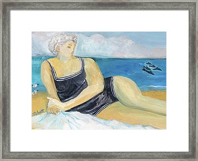 The Dolphin Queen Framed Print