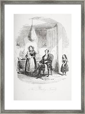 The Dombey Family. Illustration From Framed Print by Vintage Design Pics