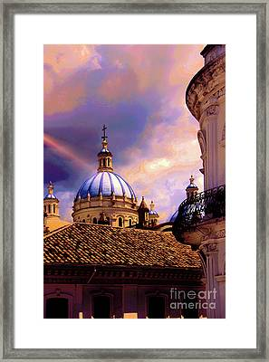 The Domes Of Immaculate Conception, Cuenca, Ecuador Framed Print by Al Bourassa