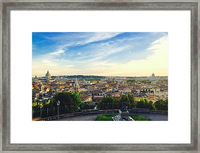 The Domes Of Rome Framed Print