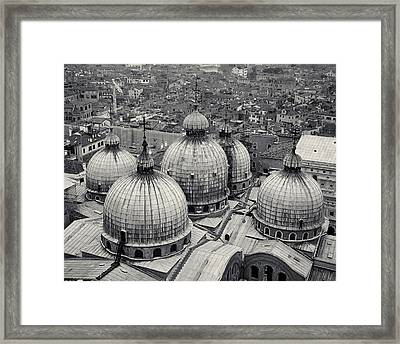 Framed Print featuring the photograph The Domes Of San Marco, Venice, Italy by Richard Goodrich