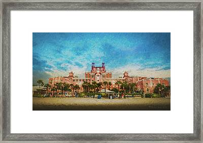 The Don Cesar Resort Framed Print