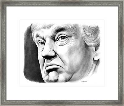 The Donald Framed Print by Greg Joens