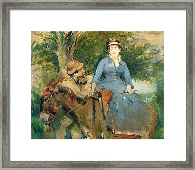 The Donkey Ride Framed Print by Eva Gonzales