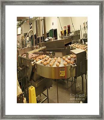 The Doughnut Machine Framed Print by Carol F Austin