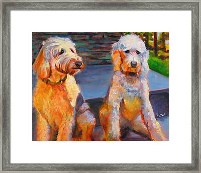 The Doodle Sisters Framed Print
