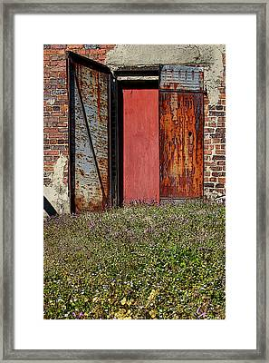 The Door Framed Print by Alan Skonieczny