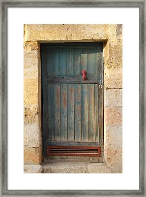 Framed Print featuring the photograph The Door And The Hand by Yoel Koskas