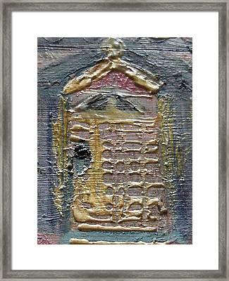 The Door Framed Print by Anne-Elizabeth Whiteway