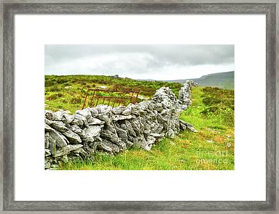The Door Behind The Wall Framed Print by Juergen Klust
