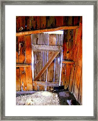 The Door Framed Print by Gigi Kobel
