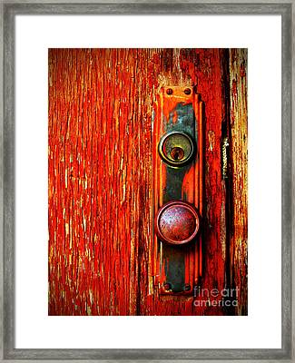 The Door Handle  Framed Print by Tara Turner