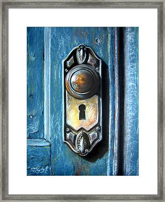 The Door Knob Framed Print